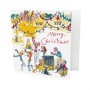 Pack of 10 Quentin Blake Christmas Cards - Christmas Party